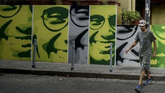 """Un murale per Giancarlo Siani a Napoli: """"Torna a vivere"""""""