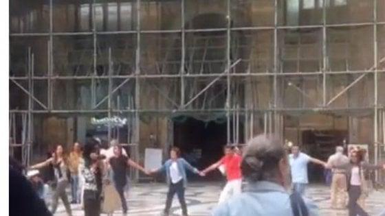 Napoli, GalleriaUmberto, sit-in contro il degrado