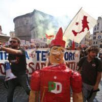 """A Montecitorio la manifestazione per """"Bagnoli libera"""". In mille da Napoli. In piazza..."""