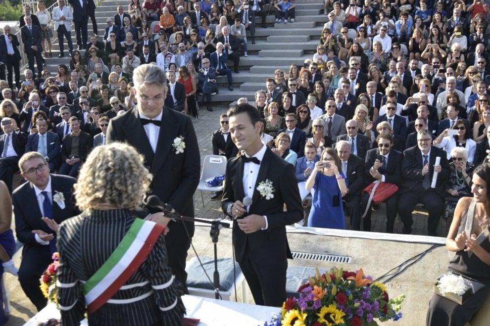 San Giorgio a Cremano, unione civile tra il sindaco Giorgio Zinno e il suo compagno Michele Ferrante