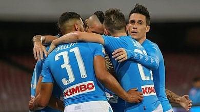 Napoli, Gabbiadini finalmente in gol  Hamsik, è l'urlo numero cento