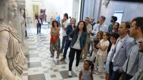 Napoli, immigrati al Mann, ottanta nuovi visitatori da quattro continenti
