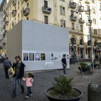 Un monumento al posto di un cipresso. Proteste in piazza Fuga a Napoli