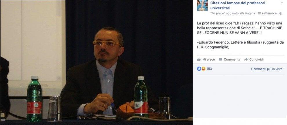 Una Pagina Fb Con Le Citazioni Dei Docenti Della Federico Ii