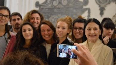 """Carla Fracci incanta il Suor Orsola Benincasa """"Napoli è casa""""   foto"""