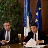 Si firma il patto, Renzi in città: