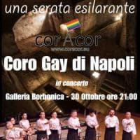 Il coro gay di Napoli si esibisce nella Galleria Borbonica