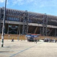 Per la super sfida Juventus-Napoli maxi schermo davanti al San Paolo