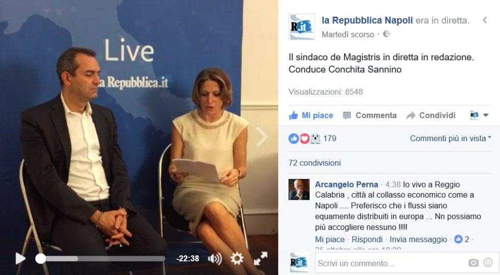 De Magistris in diretta, il sindaco commenta foto e video inviati dai cittadini per raccontare disagi e disservizi