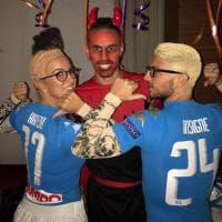Halloween, Mertens e la moglie si vestono da Insigne e Hamsik