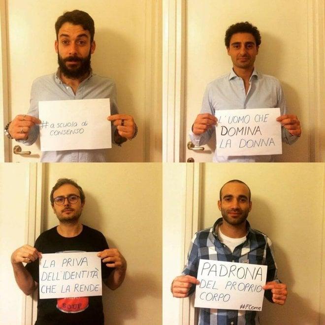 #ascuoladiconsenso, una foto per la campagna social contro la violenza sulle donne