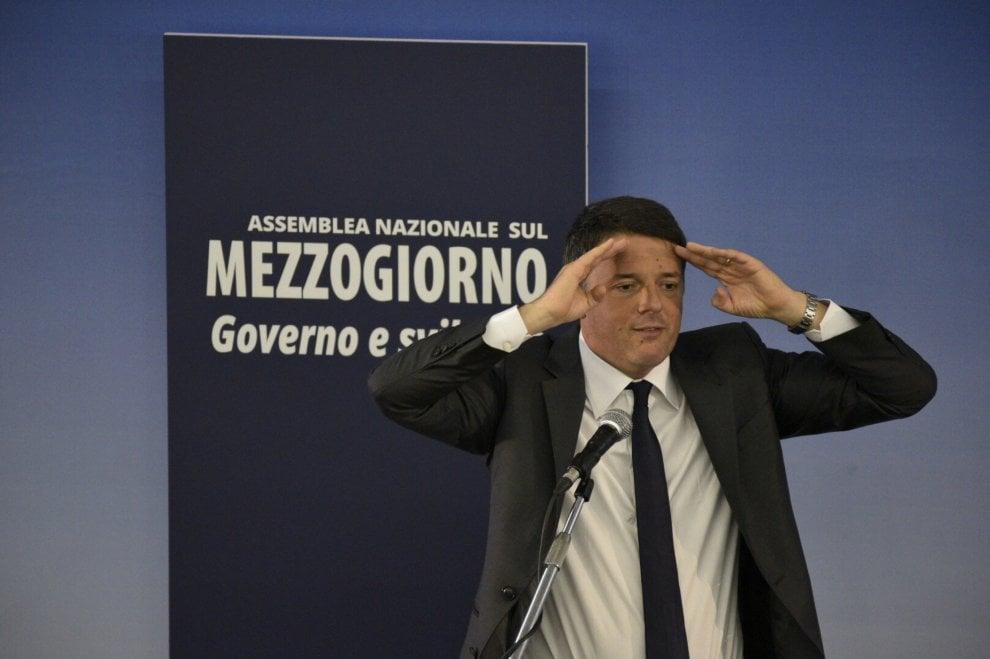 Renzi a Napoli per l'assemblea del Mezzogiorno