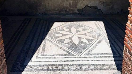 Pompei, riapre la Casa dei mosaici geometrici