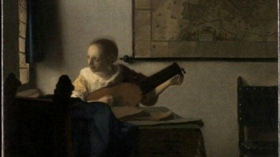 """La """"Donna con liuto"""" di Vermeer in mostra a Capodimonte"""