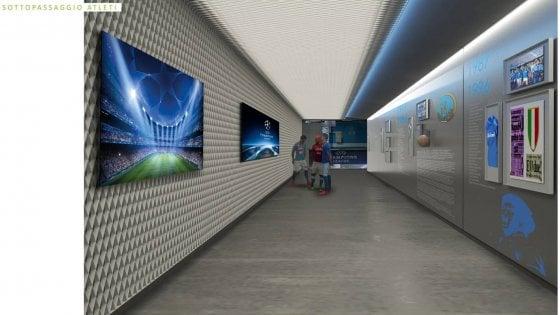 Stadio San Paolo, cambia tutto: sarà costruito un corridoio dal campo agli spogliatoi che racconterà la storia del Napoli