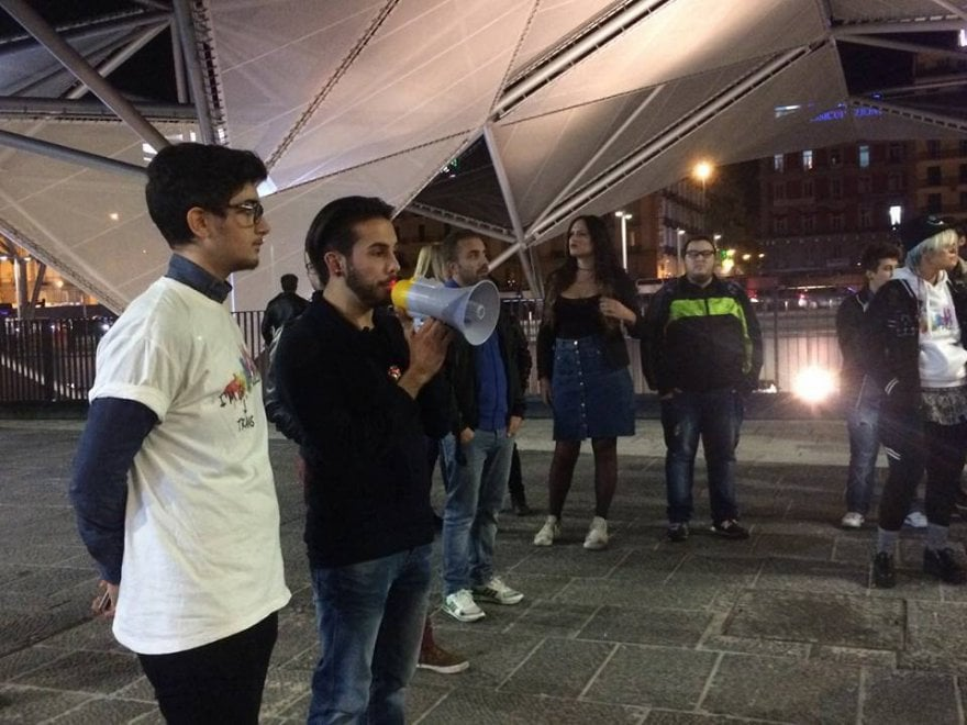 Piazza Garibaldi, flash mob per la trans assassinata