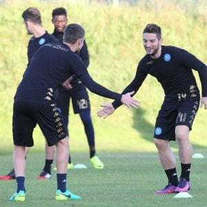 Napoli Champions, non si cambia: Mertens sì, Gabbiadini no