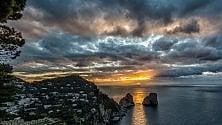 Suggestioni all'alba da Punta Cannone