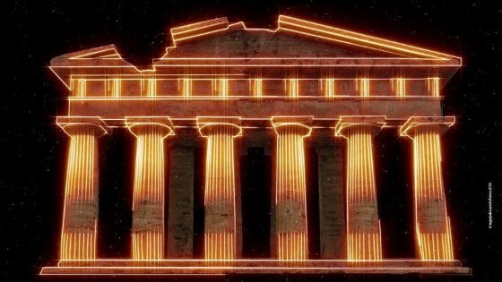 Paestum, videoarte sul tempio di Nettuno