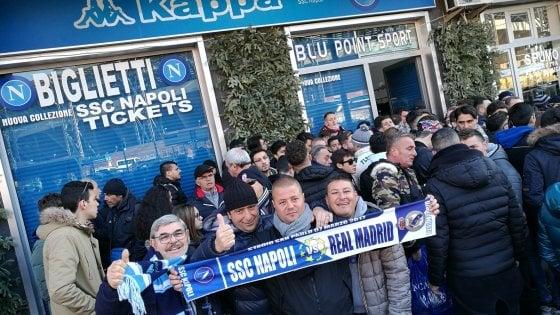 Napoli-Real, finiti i biglietti per la Curva B ei Distinti superiori