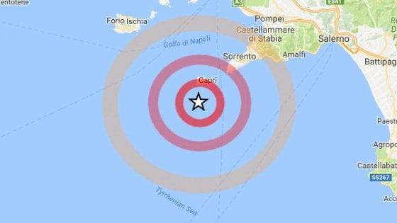 Terremoto nei pressi di Capri, avvertito anche sulla terraferma