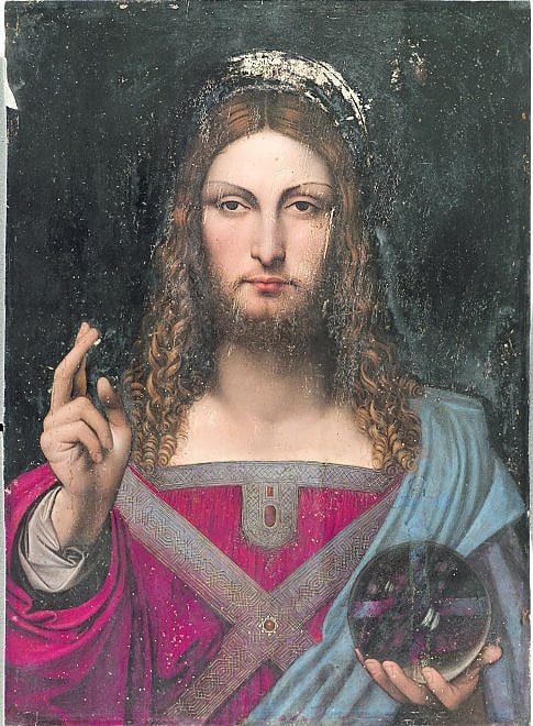 Il Salvator Mundi, tela attribuita a Leonardo da Vinci, in mostra al Museo Diocesano