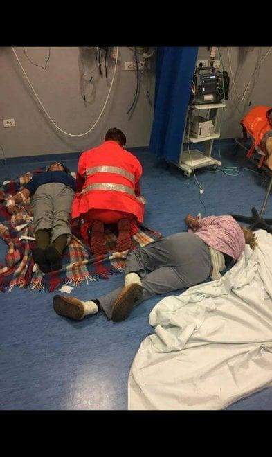 Ospedale di Nola, pazienti curati a terra