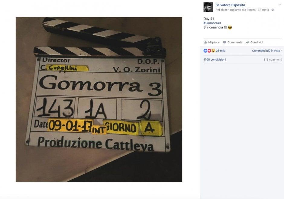 A Napoli ripartono le riprese di Gomorra 3