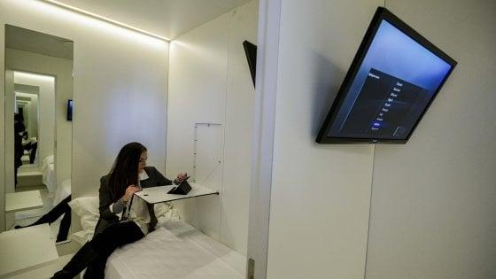 All'aeroporto di Napoli il primo albergo in Italia con le stanze a capsula