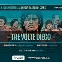 """Il viaggio di Maradona: """"Tre volte Diego"""", della Scuola italiana di Comix"""