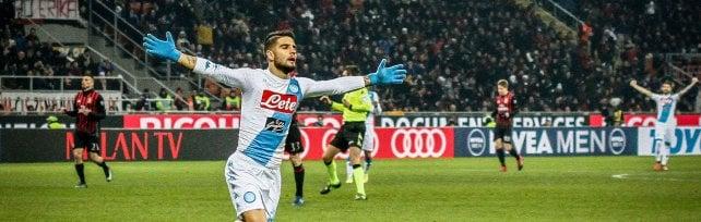 Insigne super: Napoli, che vittoria a Milano   E Maradona lo celebra su Facebook     Rep Tv Live