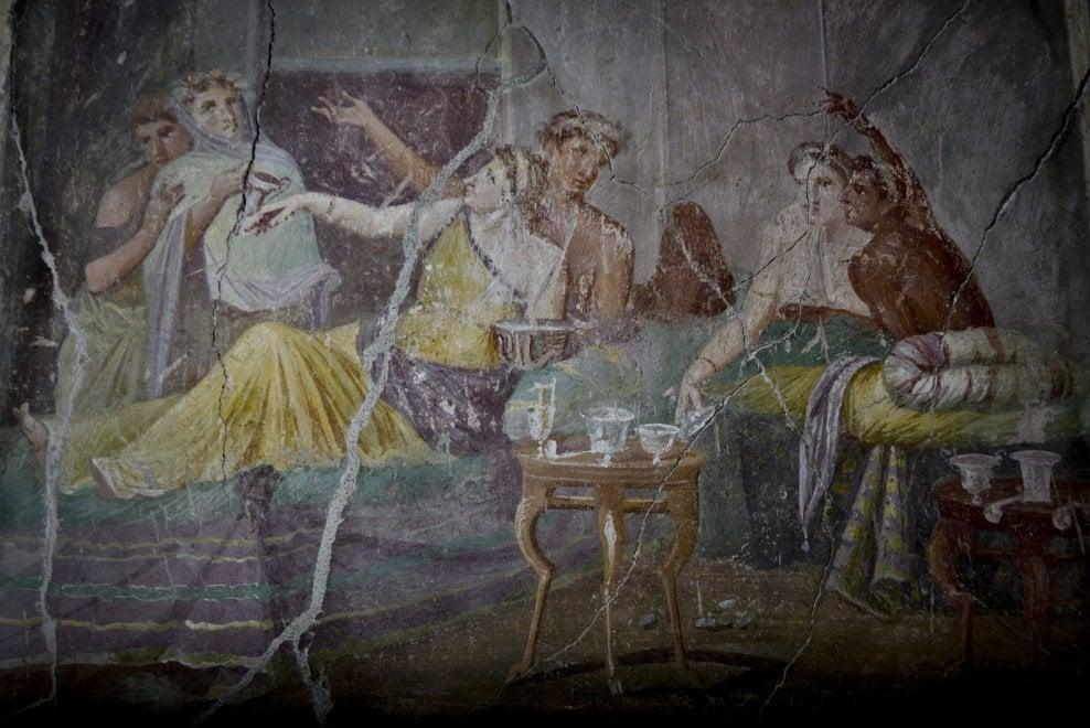 Pompei ecco le immagini della casa dei casti amanti 1 for Disegni della casa della cabina di ceppo
