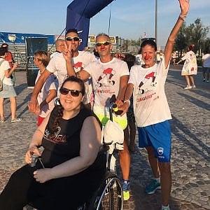 Giada va veloce, alla mezza maratona in sedia a rotelle