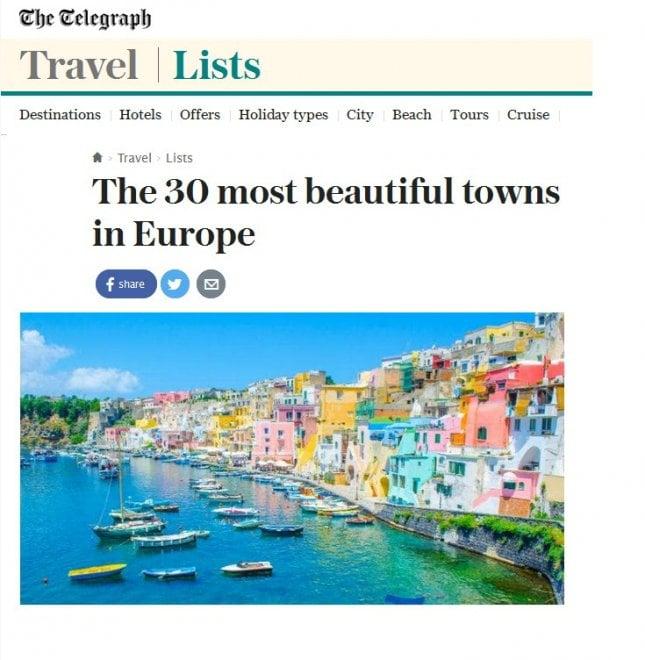 Procida tra le 30 piccole località più belle d'Europa per i giapponesi