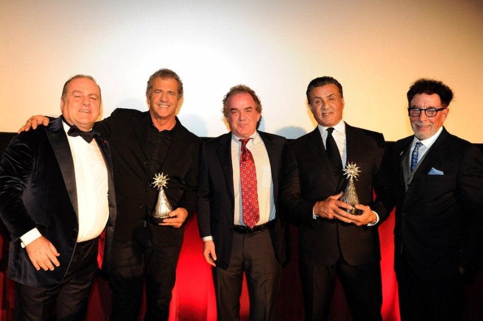 Mel Gibson e Sylvester Stallone premiati al festival Los Angeles-Italia