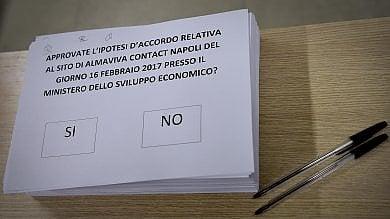 Almaviva: referendum su accordo  A Napoli vince di misura il sì