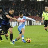 Il Napoli crolla al San Paolo contro l'Atalanta: la doppietta di Caldara