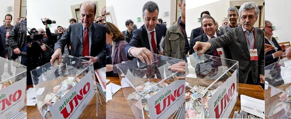 """Napoli: prima assemblea di Articolo uno. D'Alema: """"Abbiamo ritrovato la nostra gente"""""""