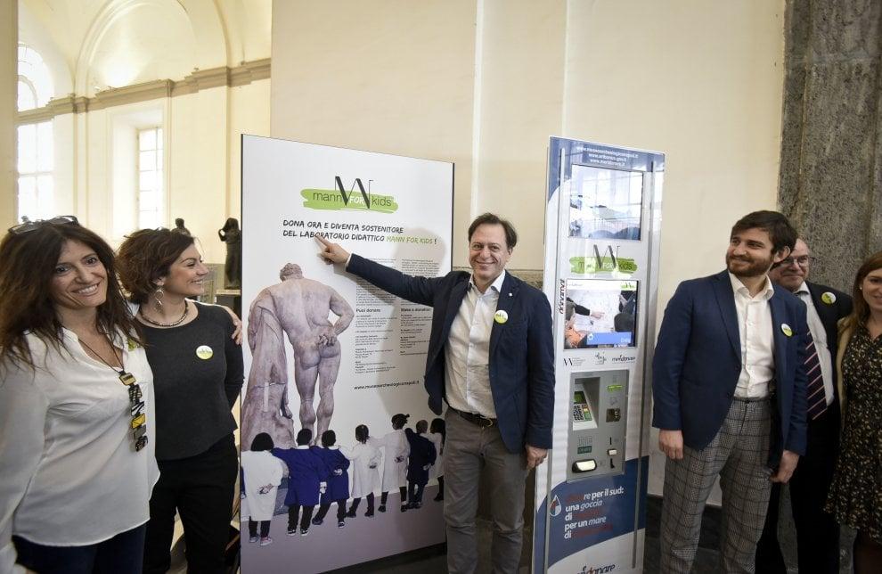 Al museo archeologico di Napoli un Donamat per l'allestimento di laboratori destinati ai bambini