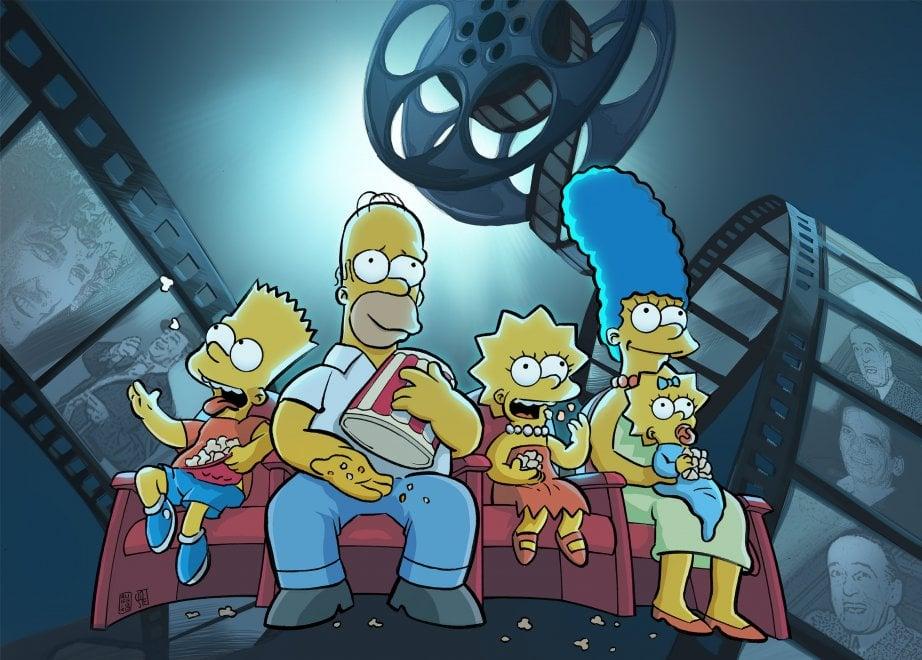 I 30 anni dei Simpson, in salotto con Troisi e Totò: l'omaggio del disegnatore napoletano Lorenzo Ruggiero