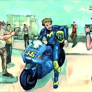 Un Disegno Di Valentino Rossi In Esclusiva Per I Lettori Di