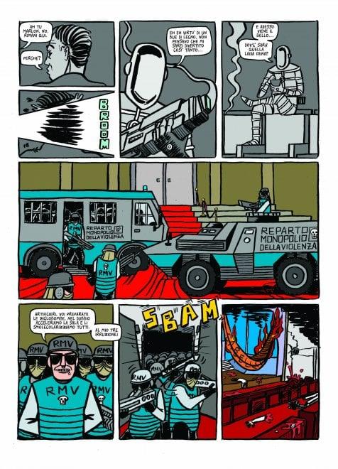 """Al Comicon  """"Malloy"""", la fantascienza caustica e ultraviolenta di Taddei e Angelini"""
