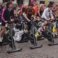 A Caserta festival dello spinning davanti la Reggia
