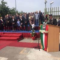 Inaugurazione e intitolazione a Santonastaso per la nuova stazione dei carabinieri a San Marcellino