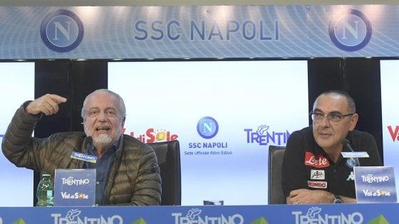 Sarri e De Laurentiis: scintille sul contratto