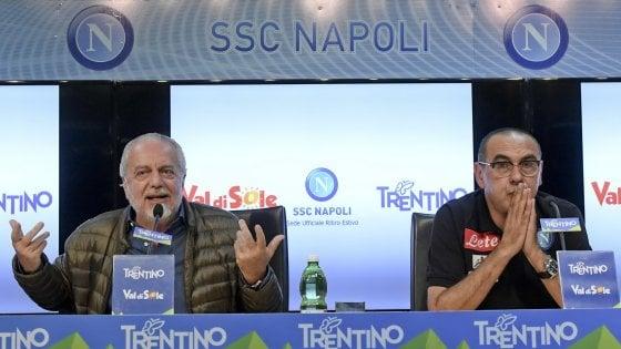 De Laurentiis-Sarri, sprint per il futuro