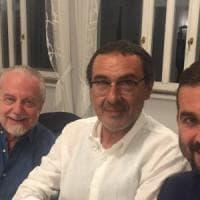 Il Napoli alza la posta: patto per lo scudetto De Laurentiis & Sarri disgelo