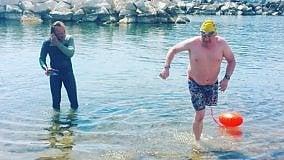 David, parte da Ischia la nuova sfida  del nuotatore irlandese senza una gamba