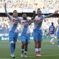 Il Napoli cala il poker alla Sampdoria, ma non basta: la squadra di Sarri