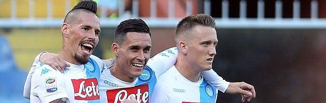 Il Napoli cala il poker alla Sampdoria, ma non basta: la squadra di Sarri disputerà il preliminare di Champions